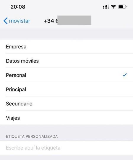 Iphone Lineas Etiquetas