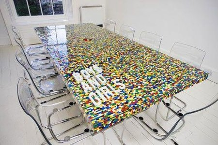 mesa piezas lego