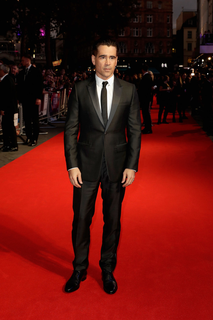 Colin Farrell Traje Negro Homobre Trendnecias Red Carpet To Kill A Sacred Deer 3