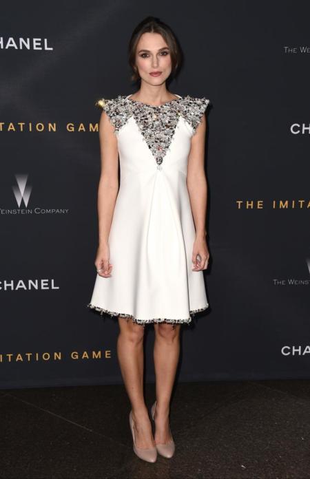 Keira Knightley vestido blanco Chanel