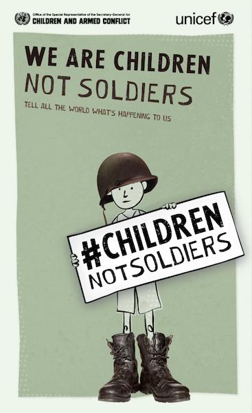 """""""We are Children not Soldiers"""": campaña para acabar con el reclutamiento y uso de niños en conflictos armados"""
