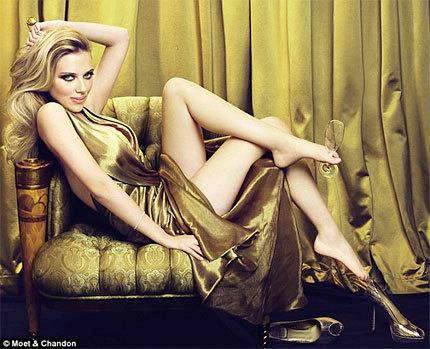 Scarlett Johansson para Moët & Chandon