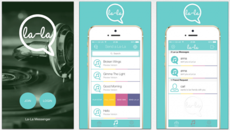 La-La, una app de mensajería que sólo te deja comunicarte con canciones