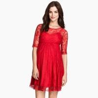 Vestido Rojo Encaje Premama
