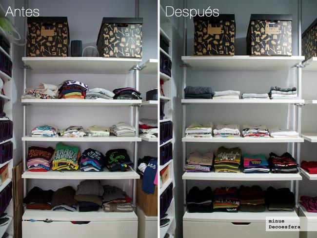 Antes y después vestidor - 3