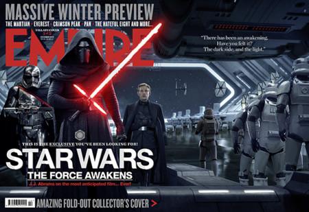 Los villanos de Star Wars VII en la portada de Empire