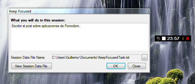 KeepFocused, Pomodoro para Windows