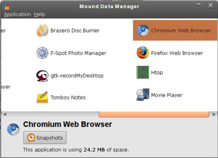 Mound Data Manager, copias de seguridad inteligentes