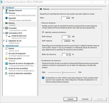 Editar Configuracion Mv