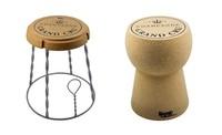 Siéntate y brinda en estos taburetes con forma de corcho de Beat Collection