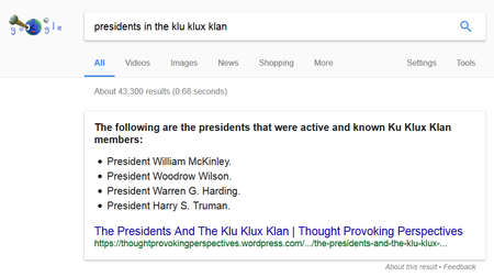 Presidents In The Klu Klux Klan Search