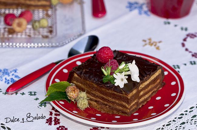 Tarta de chocolate y galletas de Dulce y Salado