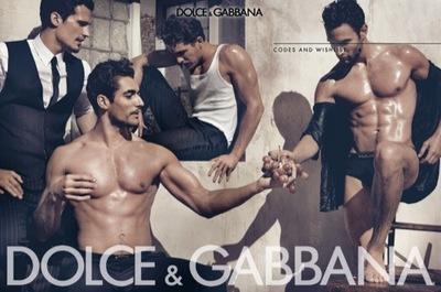 La campaña de Dolce & Gabbana, Primavera-Verano 2010: músculos y hombres perfectos