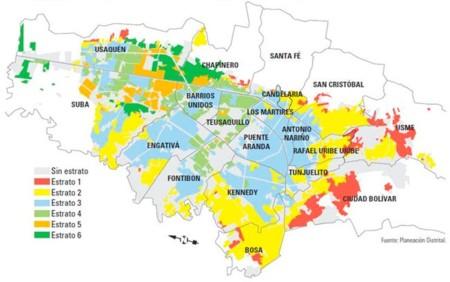 Mapa Estrato Bogota