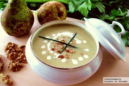 sopa, pera y canela