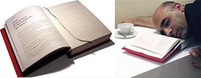 No es un libro; es una almohada