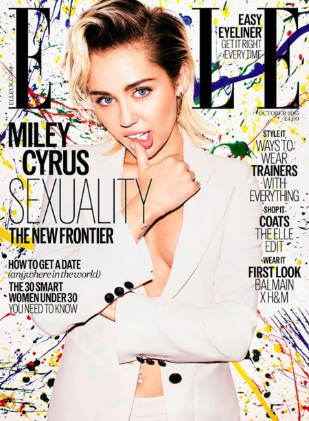 Miley Cyrus Elle Uk 2015