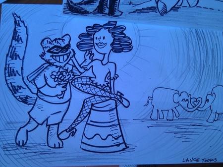 El mapache y el elefante de Lance Tooks 3