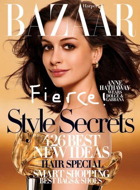 Anne Hathaway en Harper's Bazaar