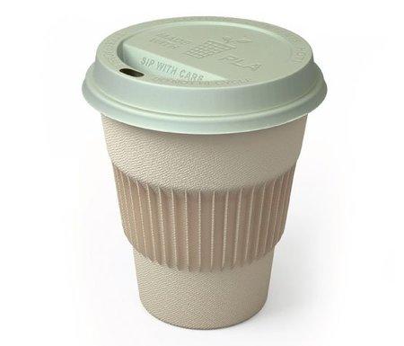 Una taza para el café 100% reciclable
