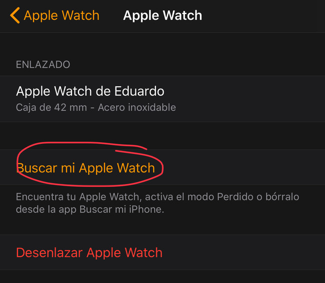 Apple Watch obstruido en logo manzana
