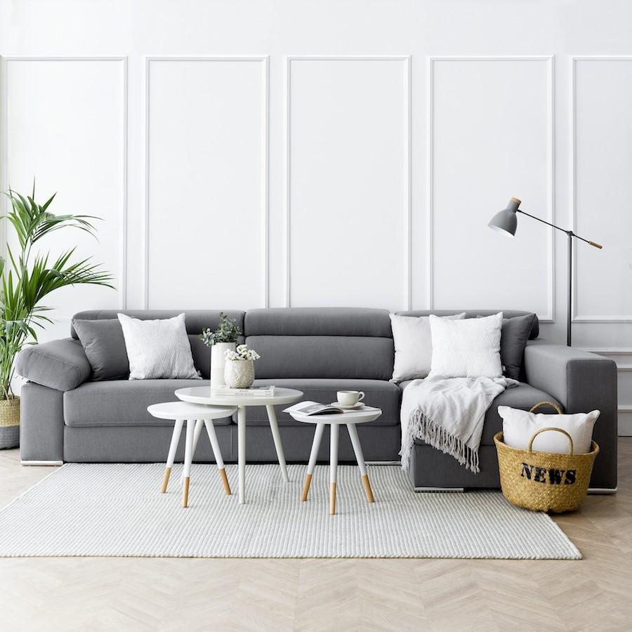 Sofá con chaise