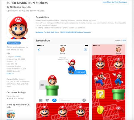 Super Mario Run Stickers Itunes