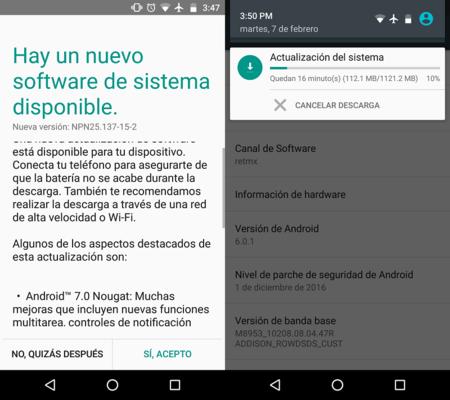 Moto Z Play Actualizacion Nougat Mexico