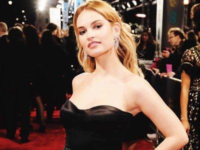 Lily James se atreve con el estilo retro más glamouroso en la alfombra roja de los BAFTA 2018