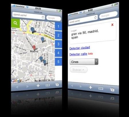 comil.us, búsqueda de lugares de ocio en web/iPhone/iPod Touch