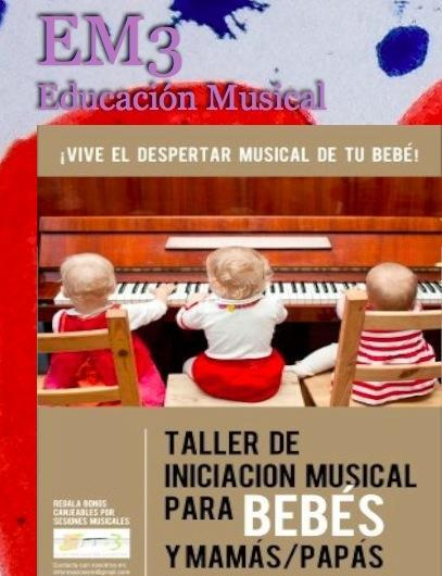 Taller educación musical para bebés