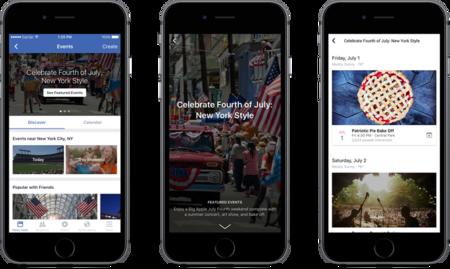 Así son los nuevos eventos destacados de Facebook