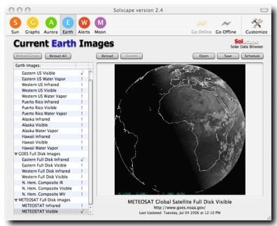 Solscape, información e imágenes del Sol y la Tierra en tiempo real