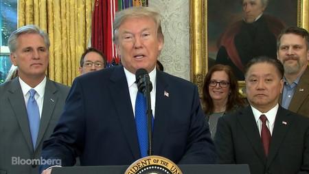 Trump anuncia la vuelta de Broadcom a Estados Unidos. Imagen de Bloomberg.