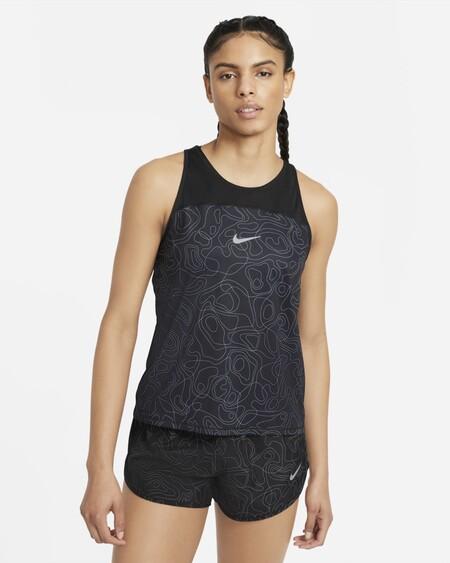 Miler Run Division Camiseta De Tirantes De Running Estampada Rvkqdx