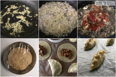 Paso A Paso Empanadillas De Ternera Champinones Y Tomate