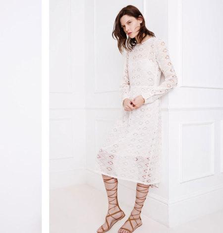 Zara Blanco Primavera 2015 romantico