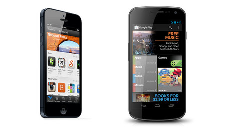 iPhone y Galaxy Nexus