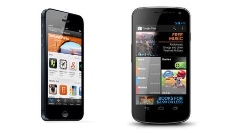 iPhone y Galaxy Nexus