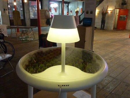 Moss, una mesa auxiliar con energía bio-fotovoltaica ¿alternativa de futuro?