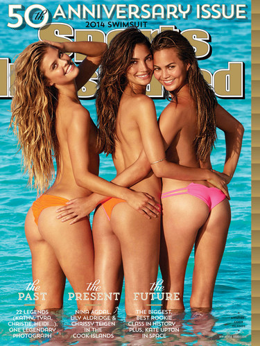 Nina Agdal, Lily Aldridge y Chrissy Teigen son las estrellas del 50 aniversario del Sports Illustrated baño
