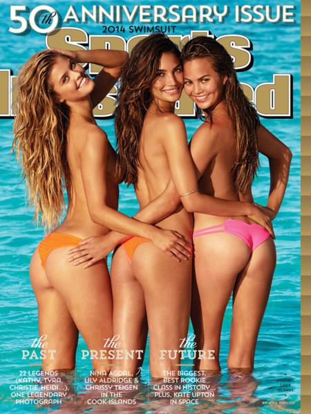 Nina Agdal, Lily Aldridge y Chrissy Teigen son las estrellas del 50 aniversario del Sports Illustrated baño