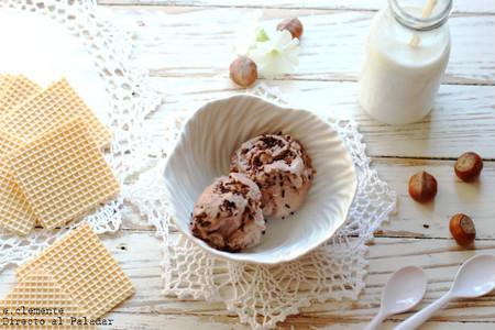 Helado de Nutella y avellanas. Receta