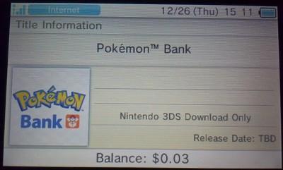 Pokémon Bank suspende servicios en Japón y posiblemente se retrasa en América