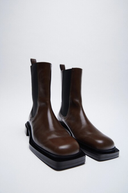 Zara Bf 2020 Zapatos Punta Cuadrada 01