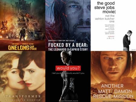 Oscars 2016 | Los carteles de las películas nominadas... si fueran sinceros