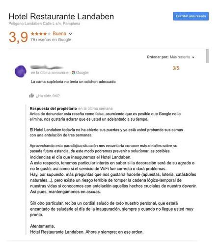 La Ironica Respuesta De Un Hotel A La Resena De Un Usuario 22es Usted Un Adelantado A Su Tiempo 22