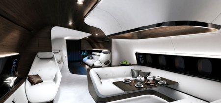 Mercedes se lleva su lujo hasta las nubes diseñando el interior de un avión privado