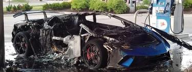 Dolorpasión™: es que tu Lamborghini Huracan Performante quede reducido a cenizas en una gasolinera