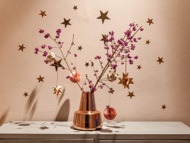 Decorando en navidad con ramos de flores secas for Ramas blancas decoracion